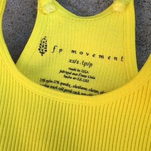 Free People Tops - Free People Bright Yellow Happiness Runs Crop Top